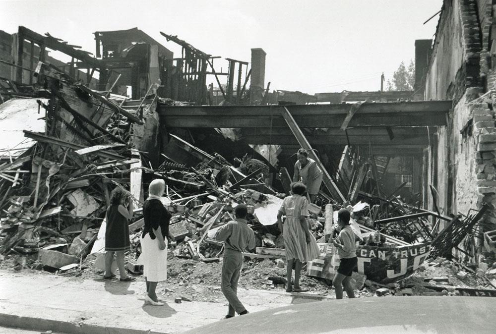 1967 Detroit Riots destroyed store